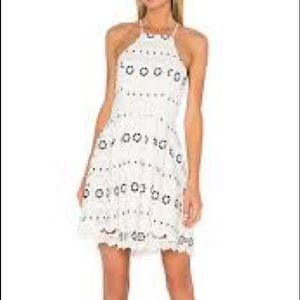 Lovers + Friends Forget Me Not Ivory Dress Lg NEW